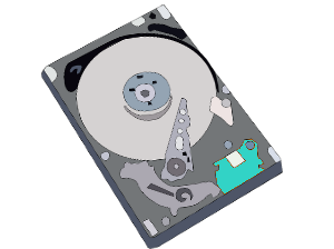 Image of computer hard drive